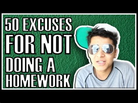 Funny math homework excuses